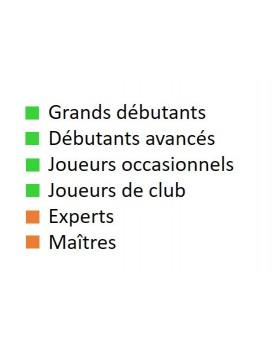 Livre d'échecs français pour grands débutants, débutants avancés, joueurs occasionnels et joueurs de club