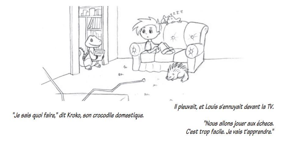 Illustration du livre : Les échecs, un jeu d'enfant