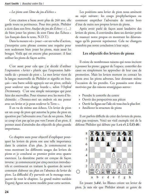 L'importance des leviers de pions aux échecs - Objectifs